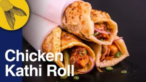 Chicken Roll Recipe—Calcutta Kathi Roll with Kabab Filling & Paratha—Durga Pujo Special—ASMR Cooking