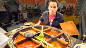 Chinese Street Food HOT POT HEAVEN + RABBIT Noodles and SPICY Dumplings in China – CHILI OIL 4 LIFE!