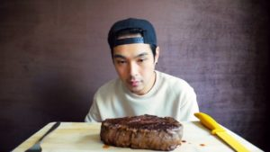 $70 Steak After Consuming Nothing But Water For 2 Days
