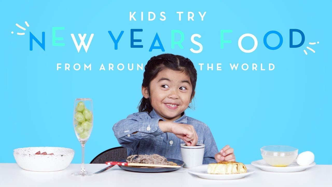 Kids Try New Years Food from Around the World   Kids Try   HiHo Kids