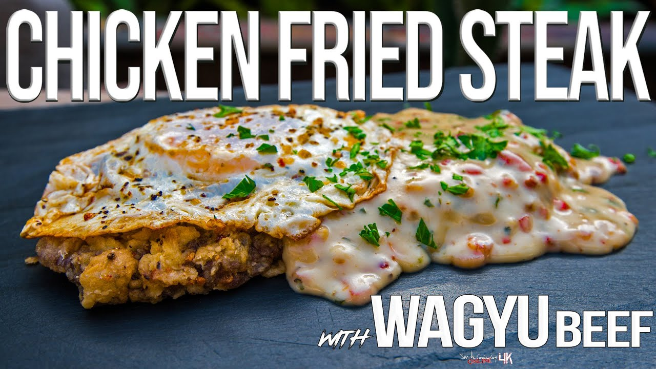 Chicken Fried Steak (with Wagyu Beef!)   SAM THE COOKING GUY 4K